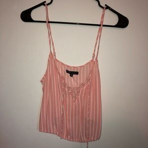 tie up striped tank top